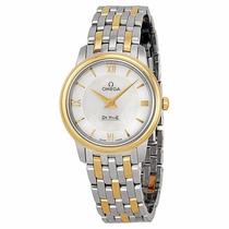 Reloj Omega Deville Mujer Dorado Concha 42410276005001