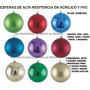 Esferas Navideñas Luminosas, De Acrilico, Cristal Pvc 20 Cm