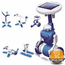 Juguete Solar 6en1 P/armar Robot Auto Lancha Drone Original