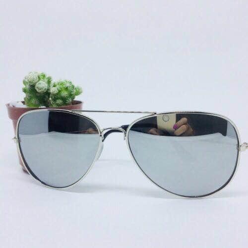 c34053de9 Óculos De Sol Feminino Estilo Aviador Espelhado Prata - R$ 29,90 em ...