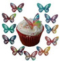 50 Borboletas 3d De Papel Arroz Para Bolos Cupcakes