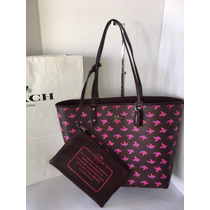 Bolsa Coach Original Tote Reversible Cheeta Animal Print