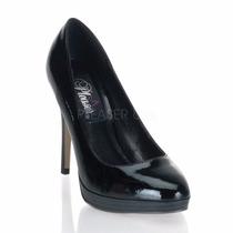 Zapatillas Marca Pin Up Couture Bliss-30 Stilettos Charol