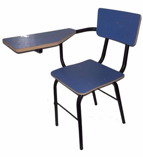 Silla con pupitre colegio liceo universidad academias - Como forrar una silla de escritorio ...