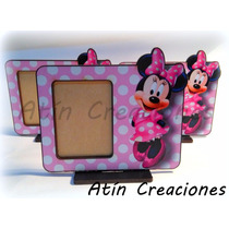 1 Portaretratos Souvenirs Minnie Mickey Bebe Peppa Minions
