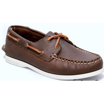 Zapato De Piel Top Sailer Modelo 101 Cafe