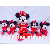 Minnie Vermelha Pelúcia Kit Com 5