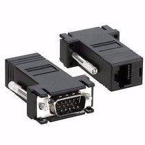 Kit Com 10 Adaptador Conector Macho Vga X Rj45 Cabo De Rede