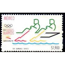 Timbre Postal Xxv Juegos Olimpicos Barcelona Mexico 1992