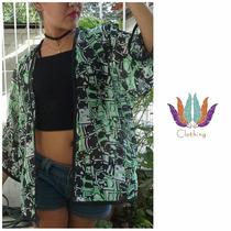 Kimonos De Dama Moda 2016 Tipo Chaleco, Sobretodo, Playero