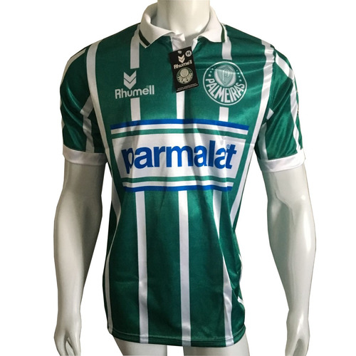 Camisa Palmeiras Parmalat Listrada 1993 Num 7 Retrô 40% Off - R  54 ... 729f41b1fb8d4