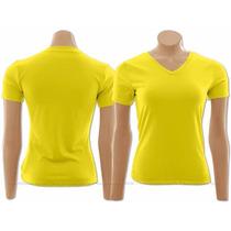 10 Camisas Gola V Sublimação Cores Escuras - 100% Poliéster
