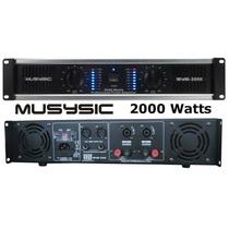 Musysic 2 Channel 2000w Professional Power Dj Amplifier 2u