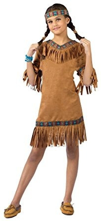 Disfraz Para Nina Ninos Traje Indio Americano Nina Md Traje - Disfraz-india-americana