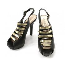 Zapatos Negros Con Dorado Qupid