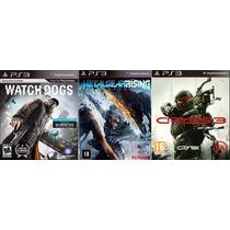 Combo Jogos Crysis 3+metal Gear Rising+watch Dogs Ps3