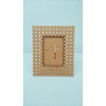 Porta Retrato Perolas Em Mdf Cru-decoração-artesanato-festas