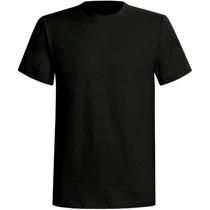 10 Camisetas Poliester Preta Lisa Tamanhos Diversos