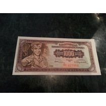 Billete Yugoslavia 1000 Dinar 1955 P 71 Unc