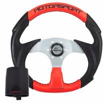 Volante Fusca 71 72 73 74 75 76 Vermelho/preto Motorsport