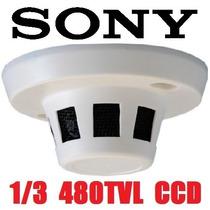 Camara Seguridad Espia Oculta Detector Humo Incendio 1/3 Ccd