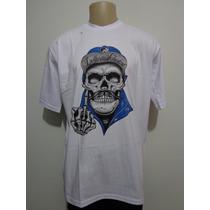Camiseta Rap Power Chicano Caveira Bigode Crazzy Store