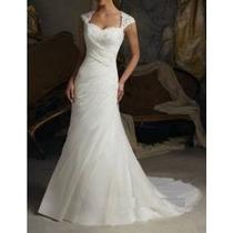 Vestido De Noiva Semi Sereia - Manequim 46/48 Envio Imediato