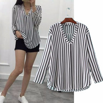 Blusa Striped Escote En V By Vera Benson