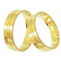 Garantia Eterna, Alianças Cor De Ouro, Par 8mm Moeda Antiga