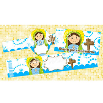 Kit Imprimible Virgencitas Bautizo Comunion Baby Shower #4