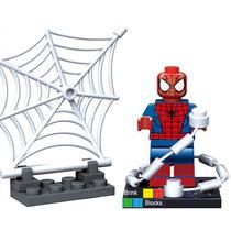Homem Aranha C/teias Spider-man Minifigures Lego Compatível