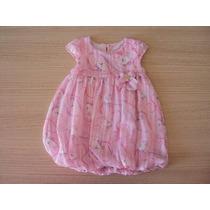 Vestido Lilica Ripilica Festa Rosa Balonê T. Gb(9-12meses)