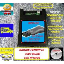 Emulador Usb Yamaha Psr2100 C/ Pendrive 3500 Arquivos Brinde