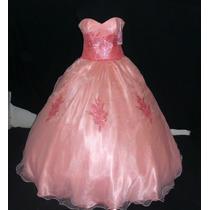 Oferta Vestido De Quince Xv Años Nuevo Color Durazno