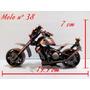 Moto Artesanal En Metal Chica