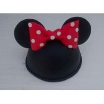 Adorno Cabeza De Minnie O Mickey Para Torta Con Nombre