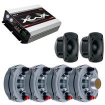 Kit 4 Drivers D250x + 2 St 200 + Módulo Boog Xwx 400.4