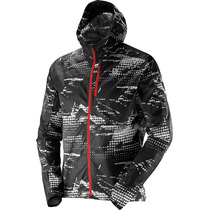 Campera Salomon Fast Wing Graphic Hoodie - Hombre - Packable