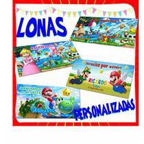 Lona Personalizada Mario Bros Luigi Para Fiesta Infantil