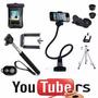 Kit Youtuber Gravação Celular Video + Capa Prova D