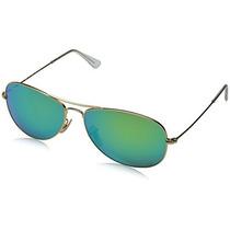 Gafas Ray-ban Cockpit Aviator Sunglasses In Matte Gold Gree