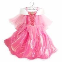 Vestido Disfraz Aurora Bella Durmiente Disney Store Original