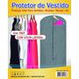 Capa Protetora Para Roupas C/ Transparencia 130cm X 90cm Tnt