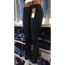 Calça Jeans Cintura Alta Jeans Collor Preto Goiânia Av. 44