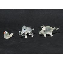 Historical*- 3 Figuras Miniatura Cristal De Bohemia -envío
