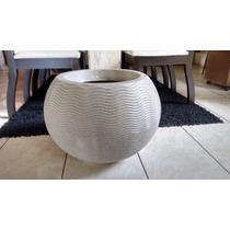 Vaso Para Plantas Ondulado Redondo N40 Granito - Polietileno