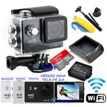 Camera Esportiva Sports Cam Filmadora Wifi +kit Bateria+16gb