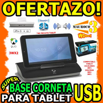 Wow Base Con Corneta Para Tablet Quo 7 10 Usb 3.5m Celular