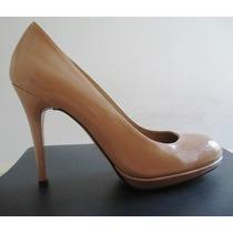 B0903 Sapato Scarpin Cor Nude Stuart Weitzman Importado, Pou