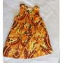 Vestido Fabula Infantil 6 Anos Mini Farm Laranja